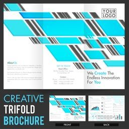Abstract Tri-Fold Brochure, Template design with front and back page presentation for your Business.