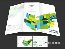 Modern Tri-Fold Brochure, Template design with front and back page presentation for your Business.