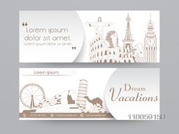 Website header or banner set for dream vacations.