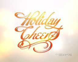 Elegant greeting card design with stylish text Holiday Cheers for Merry Christmas and Happy New Year celebration.