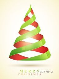 Stylish Flyer, Banner or Pamphlet with creative glossy Xmas Tree for Merry Christmas celebration.