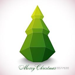 Creative Xmas Tree design on shiny background for Merry Christmas celebration.