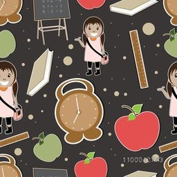 Back to school, seamless pattern.