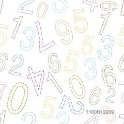 Educational background with numerical numbers.