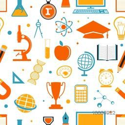 Various colorful creative set of educational supplies, elements, objects and items for Back to School concept.