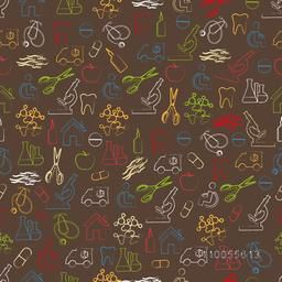 Seamless pattern of medical equipments.