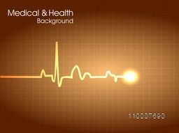 Illustration of heart beat cardiogram for Health and Medical concept.