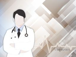 Illustration of a Doctor on abstract background for Health and Medical concept.