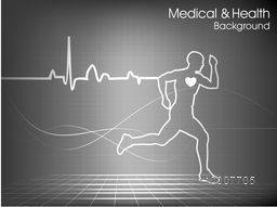 Illustration of a running man for Health and Medical concept.