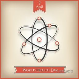 Abstract world health day concept with molecules on brown background.
