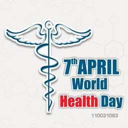 Abstract world health day concept with medical symbol on brown background.