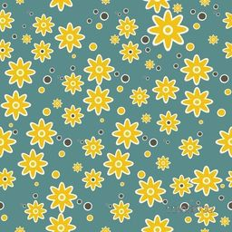 Beautiful pattern decorated with yellow flowers.