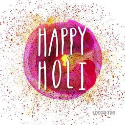 Poster, Banner or Flyer with colourful paint stroke for Indian Festival of Colours, Happy Holi celebration.