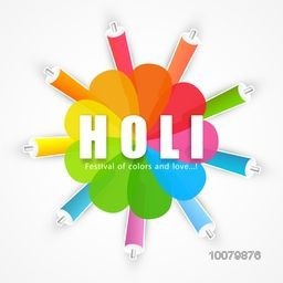 Colourful water guns and floral design decorated Poster, Banner or Flyer for Indian Festival, Happy Holi celebration.
