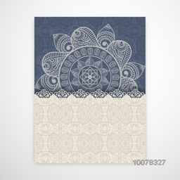 Floral design decorated beautiful Invitation Card with space for your wishes.