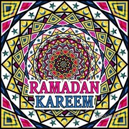 Creative colourful Traditional Floral Pattern with Moons and Stars for Holy Month of Muslim Community Festival, Ramadan Kareem Celebration.