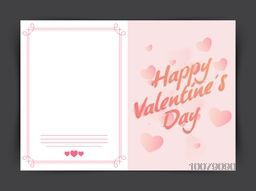 Beautiful hearts decorated glossy greeting card design for Happy Valentine's Day celebration.