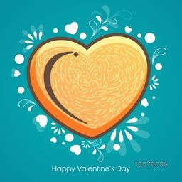 Elegant greeting card design decorated with creative heart for Happy Valentine's Day celebration.