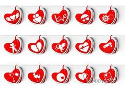 Happy Valentines Day background, greeting card or gift card, love concept. EPS 10.