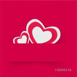 Greeting card design with Hearts for Happy Valentine's Day celebration.