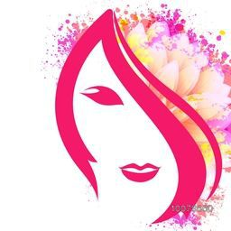 Creative illustration of young girl face with colorful splash and flower for Happy International Women's Day celebration.