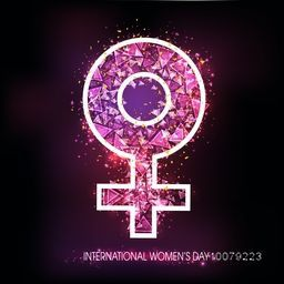 Creative abstract Female Symbol on shiny background for International Women's Day celebration.