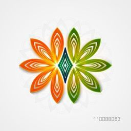 Glossy beautiful National Flag Colours floral flower for Happy Indian Republic Day Celebration.