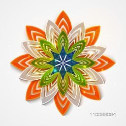 National Flag Colours floral flower for Happy Indian Republic Day Celebration.