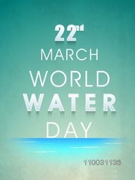 Creative floral design decorated poster, banner or flyer with stylish text 22nd March for World Water Day concept on grungy background.