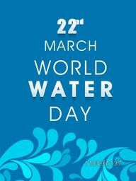 Creative floral design decorated poster, banner or flyer with stylish text 22nd March for World Water Day concept on sky blue background.