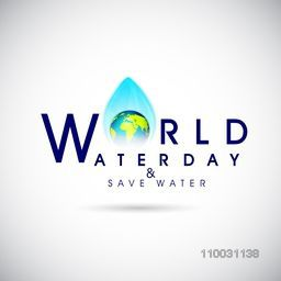 World Water Day poster, banner or flyer design.