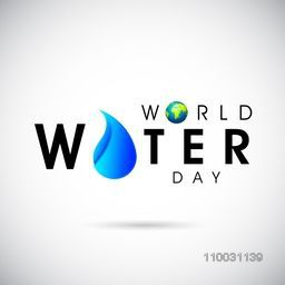 World Water Day celebration poster, banner or flyer design.