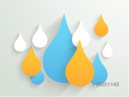 Creative colorful water drop for World Water Day concept.