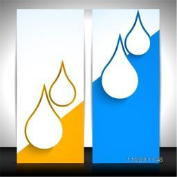 Creative website banners with water drop for World Water Day concept.