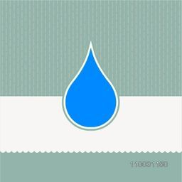 Creative blue water drop on stylish vintage background for World Water Day concept.