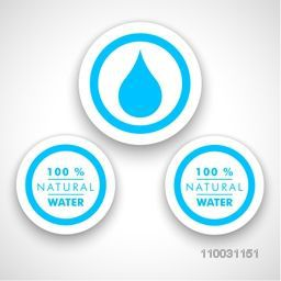 Sticker, tag or label for World Water Day concept.