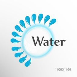 Creative stylish frame with water drop for World Water Day concept.