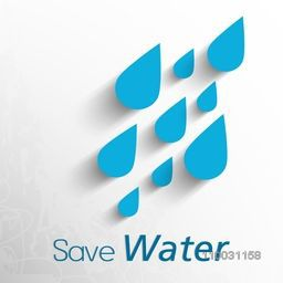 World Water Day concept for save water with creative blue water drop.
