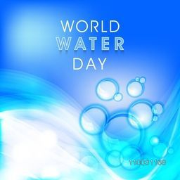 Beautiful poster, banner or flyer with shiny abstract design for World Water Day concept.