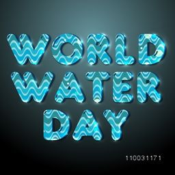 Stylish poster, banner or flyer for World Water Day.