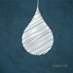 Creative water drop on grungy background for World Water Day concept.