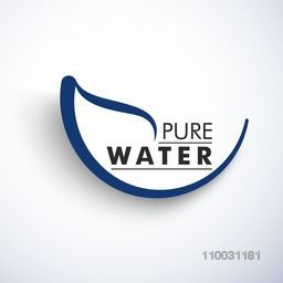 World Water Day concept with stylish text Pure Water on sky blue background.