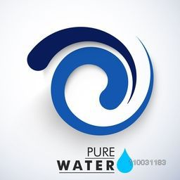 Creative blue floral design with text Pure Water for World Water Day concept.