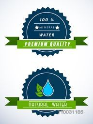 Stylish glossy sticker, tag, label or badge for World Water Day concept.