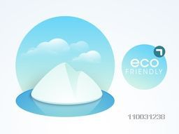 World Water Day sticker, tag or label design with ice mountain, can be use as sticker, tag or label.
