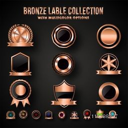 Bronze Shield or Badges Collection Set, Multicolors Options.