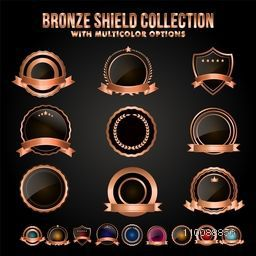 Bronze Shield or Badges Collection Set.