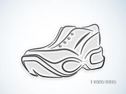 Creative illustration of stylish Sport Shoe on shiny background.