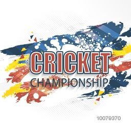 Stylish text Cricket Championship on abstract background, can be used as poster, banner or flyer design.
