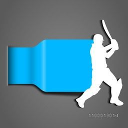 Abstract Cricket background with batsman, sports concept.